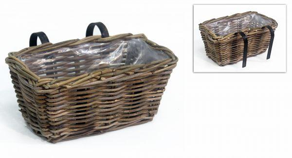 balcony basket grey 30x18h16cm