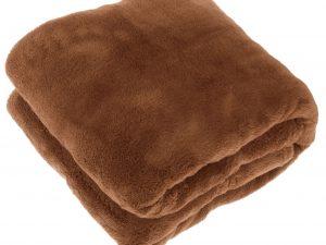 Justin plaid 150x200cm leather brown